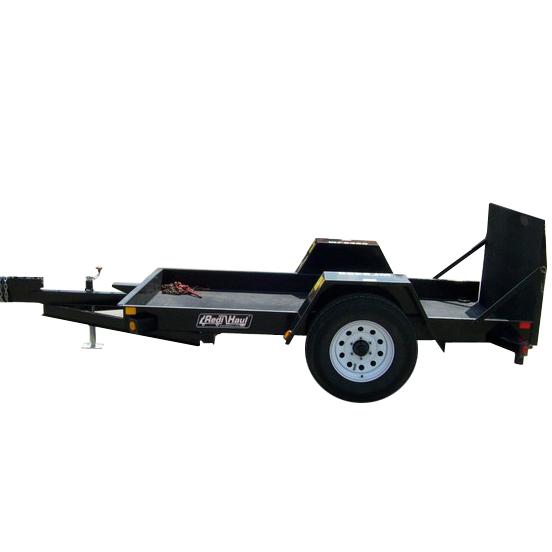 Scissor Lift Trailer : Trailer  steel w tilt and ramp fdl rental