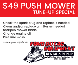 $49 Push Mower Tune-up Special