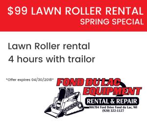 $99 Lawn Roller Rental 4 hrs